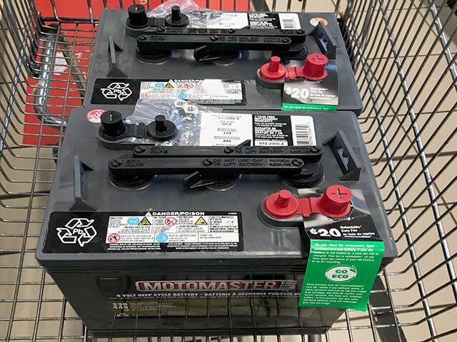 Motomaster 2x6V batteries